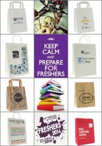University Freshers' Week Bags