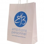 white paper bags